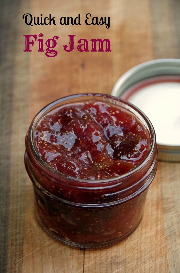 What should you do with your figs? Make this easy fig jam recipe!