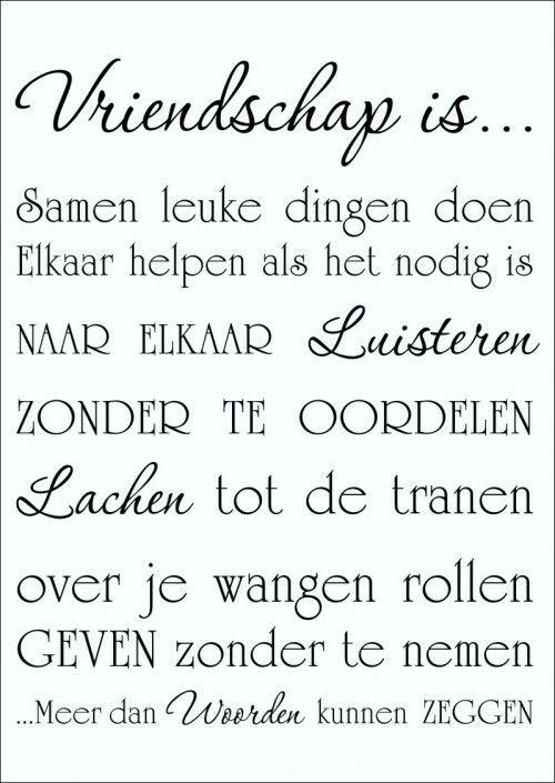 Vriendschap is...