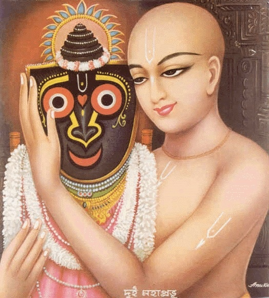 Here we have Lord Chaitanya and Lord Jaganada in a spiritual loving passtime