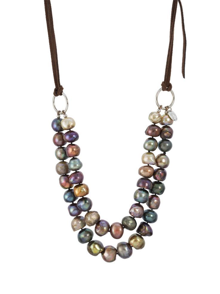 Double Strands Baroque Pearl Necklace