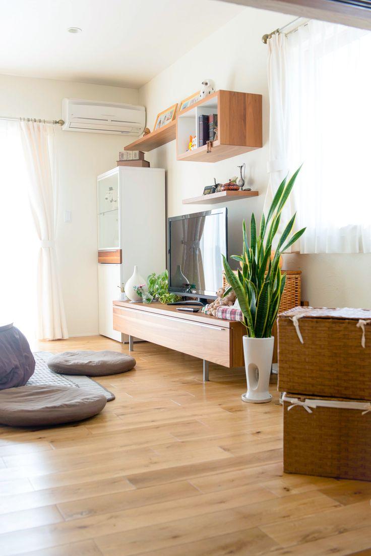 【自然素材の住宅】 夏は風通しが良いので涼しく、冬は日当たりも良く床暖房が温かいリビング。 ★ファーストステージ 一級建築士事務所(茨城県 水戸・つくばで設計士と建てる ちょっとカッコイイ家づくり)★