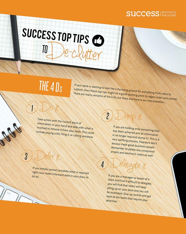 Success Top Tips to De-clutter February 2014 http://successbusinessmag.com.au/