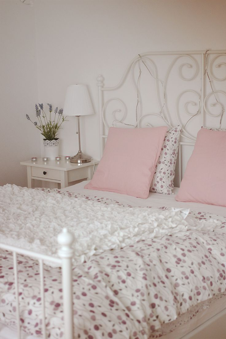 Ikea white metal bed frame - Wasted Heart My New Sleeping Room With The Beautiful Leirvik Bed From Ikea And