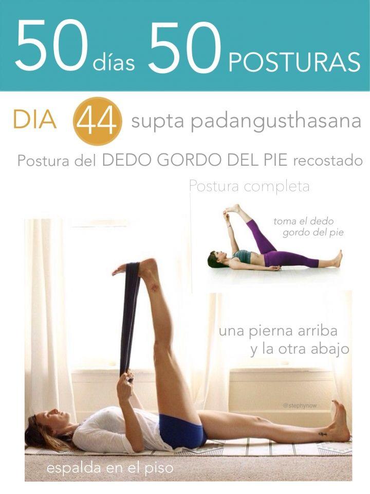 ૐ YOGA ૐ ૐ Supta Padangusthanasana ૐ  50 días 50 posturas. Día 44. Postura del Dedo Gordo del Pie Recostado.