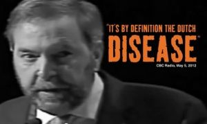 Analysis: Tom Mulcair's 'Dutch disease' diagnosis was poor politics, but sound economics.  Manufacturing jobs have declined to a new low, and won't bounce back easily (CBC News 14 April 2015)