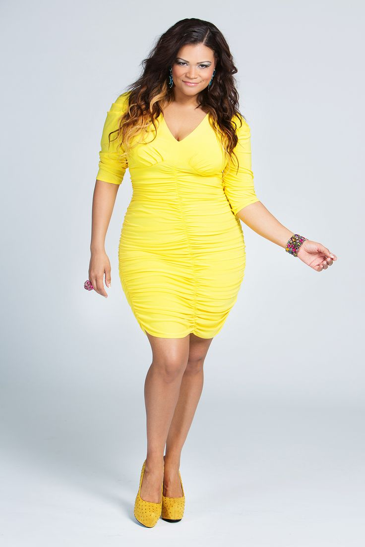 Yellow Plus Size Formal Dresses