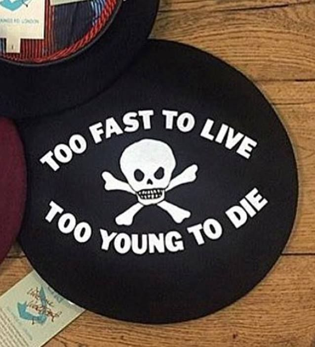 Too Fast To Live Too Young To Die Beret Beret b56cf4182a14