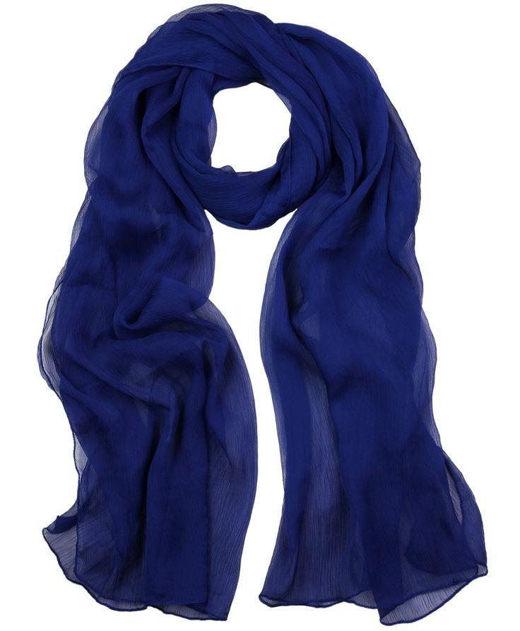 ILM Royal Blue Crinkle Chiffon