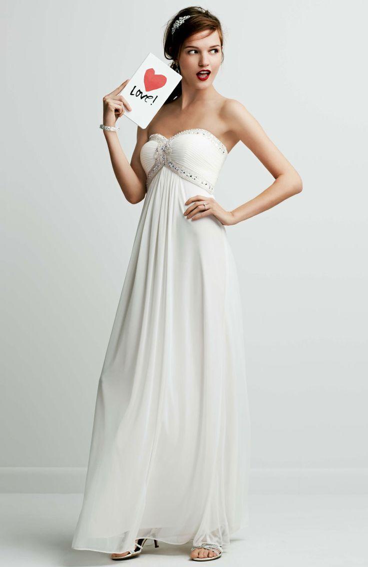 Maternity wedding dresses david s bridal cocktail for Inexpensive maternity wedding dresses