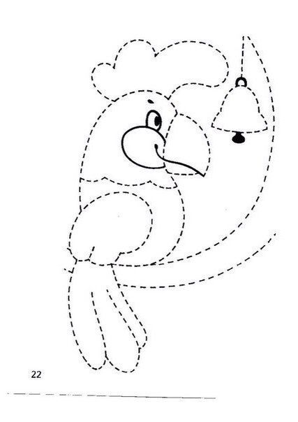Papağan - Çizgi Çalışması - Okul öncesi çocuklar için güzel bir çizgi çalışması.