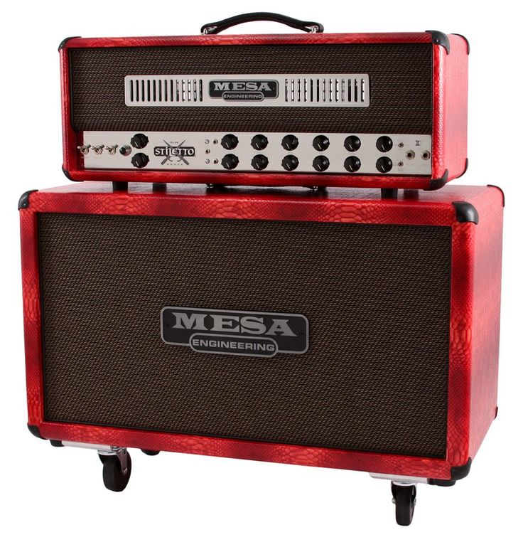 Mesa Boogie Stiletto Duece II Head - Patent Red Snakeskin