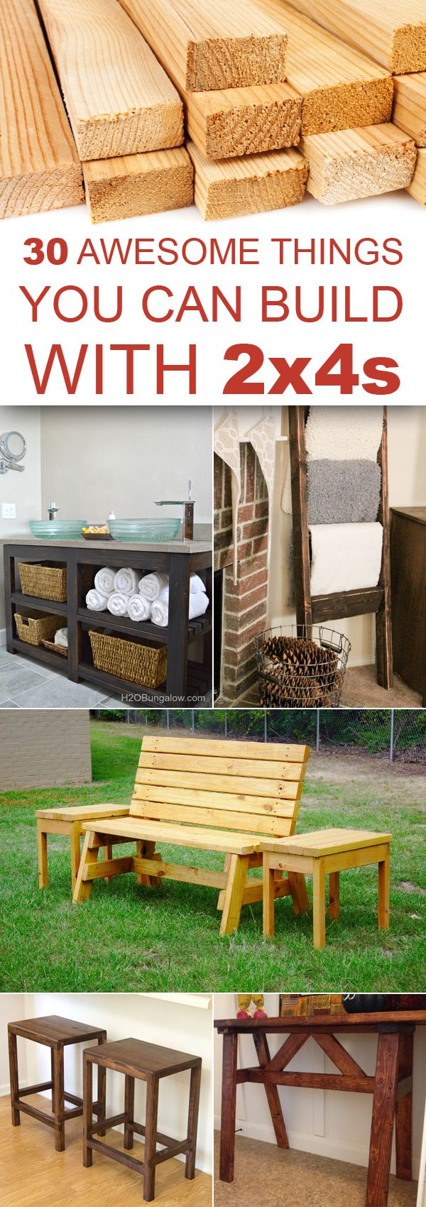 #woodworkingplans #woodworking #woodworkingprojects 30 Awesome Things You Can Build With 2x4s