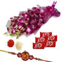 Rakhi Orchids with Chocolates