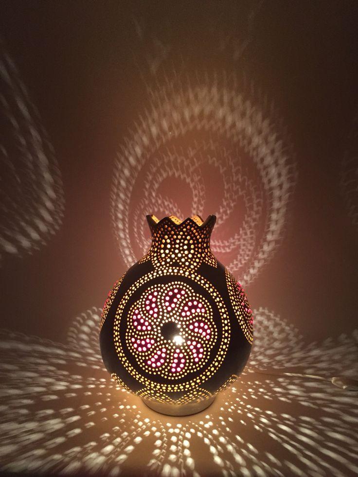 """Gourdlamp, Gourdlight """"Flower of Orient"""""""