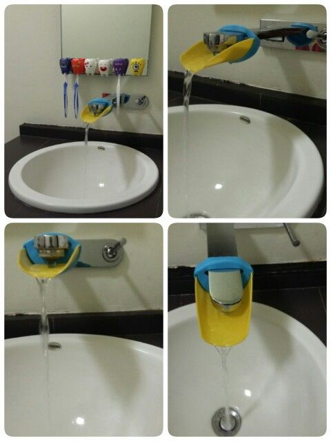 Para que los pequeños ser puedan lavar las manos cómodamente, y unos hermosos guarda cepillos!