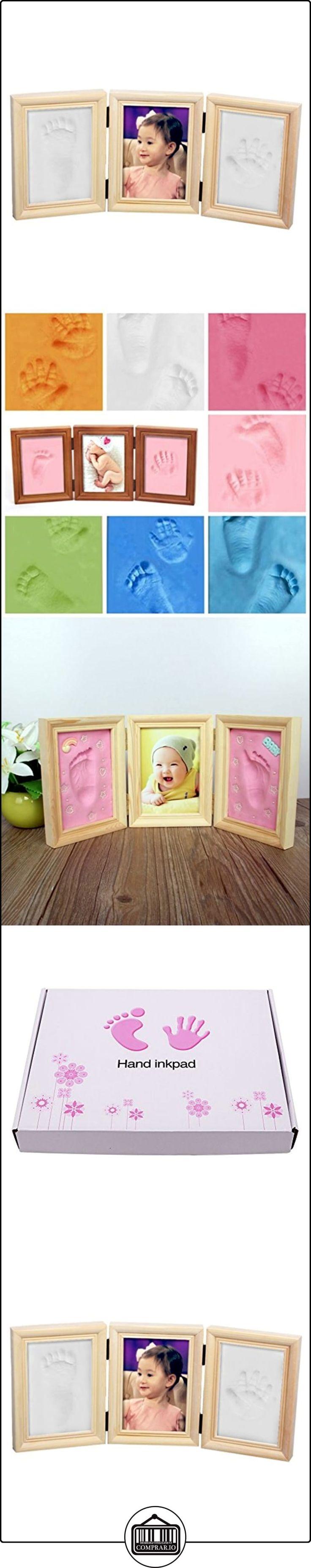 NaiFei Precious Baby Kit Casting Deluxe para el bebé Handprint o huella de madera de calidad Keepsake Marco Kit  ✿ Regalos para recién nacidos - Bebes ✿ ▬► Ver oferta: http://comprar.io/goto/B01LXTJZ3S