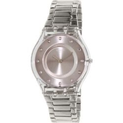 Swatch Women's Skin SFK393G Silver Stainless-Steel Swiss Quartz Watch