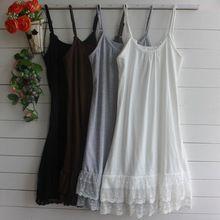 Mori Girl Styl Lolita Vintage Spaghetti strap Lace Basic Dress Women Casual…