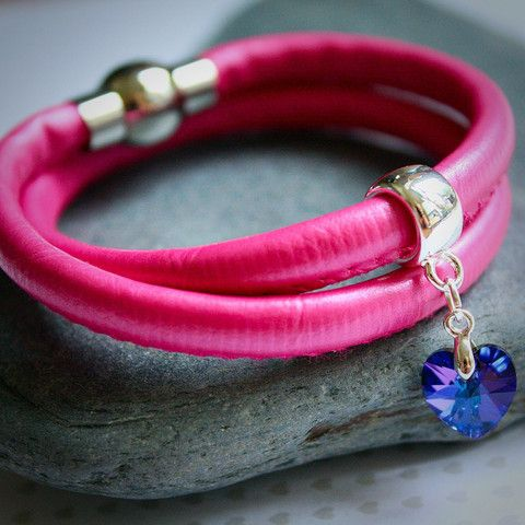 Hot Pink Wrap Bracelet £18.00