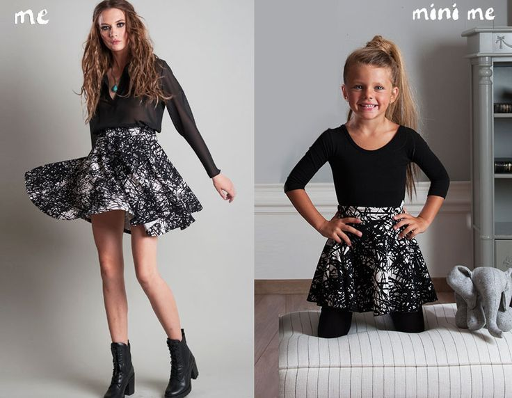 Skirt Made From Especially Stable Material! Fit The Body Beautifully And Its Full Opening Gives It A Beautiful Style! Wear it with your mini fashionista!#FallWinter14_15 #MotherAndDaughter #Set #MiniMe