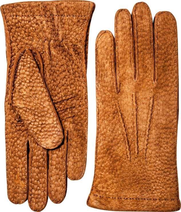 Table Cut - Hestra Dress Gloves  Carpincho Handsewn Cashmere
