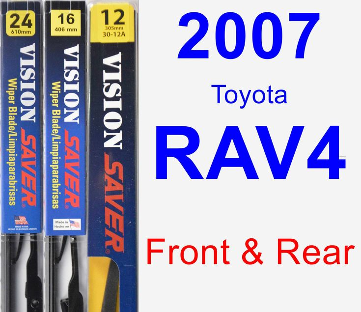 Front & Rear Wiper Blade Pack For 2007 Toyota RAV4