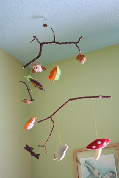 Woodland Mobile by Indigomouse, via Flickr  this looks like something Amanda made for her little sister when she was a baby, trying to entertain her