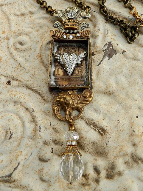 Plumed Crown Heart Box by Diana Frey, via Flickr