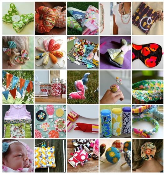 25 projects with fabric scraps25 Things, Diy Tutorial, Scrap Bust, Fabrics Scrap, Fabrics Crafts, 25 Projects, Fabric Scraps, Scrap Fabrics, Things To Do