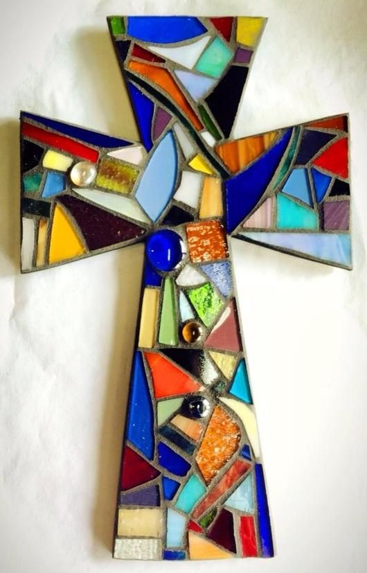 Stained Glass Mosaic Cross - Delphi Stained Glass