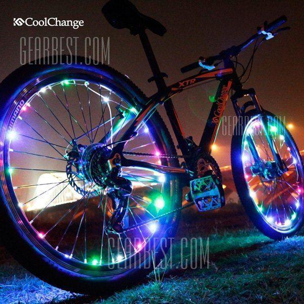 Coolchange Mountain Bike Bicycle Spokes Led Light For Night