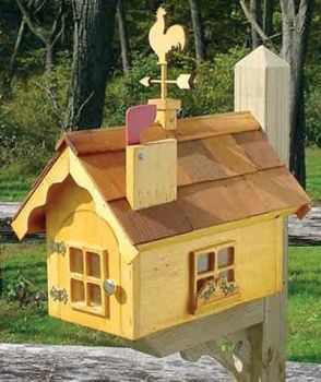 SWISS COTTAGE WOODEN MAILBOX; The swiss cottage wooden mailbox has an ...  lighthousepeddler.com