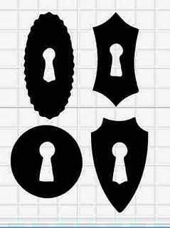 Various Keyhole Silhouettes Template/ Stencil/ Sjabloon to use for all purposes.