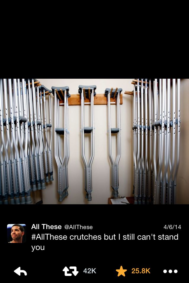 All these crutches but I still can't stand you | All these ...