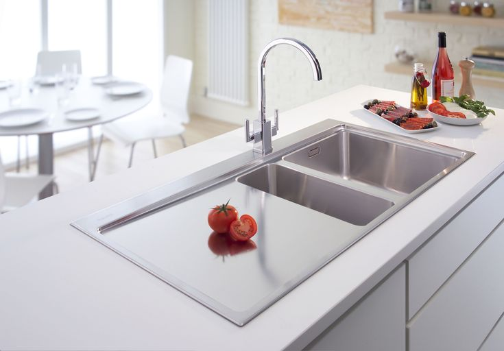 Double Modern Kitchen Sink for Apartment →  https://wp.me/p8owWu-5ho