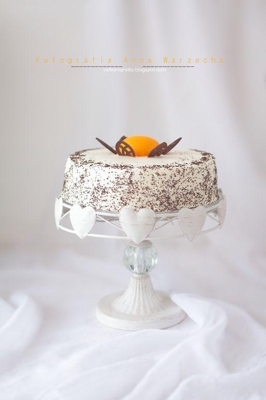 Tort makowy z brzoskwiniami @ cafeamaretto