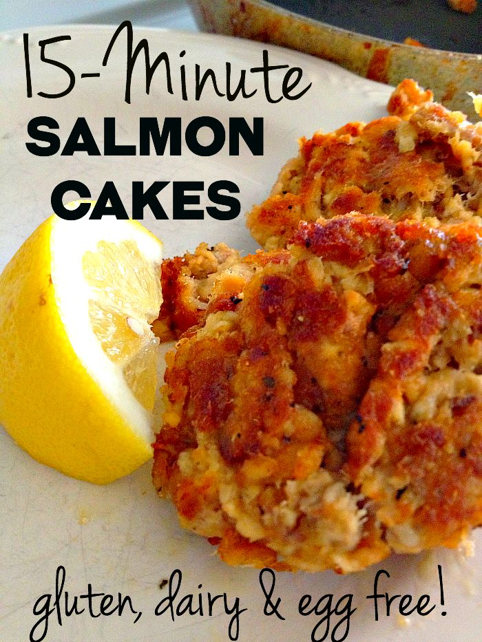 Egg-free, Dairy-free, Gluten-free Salmon Cakes: 15-Minute AMAZING Dinner!