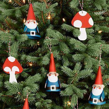 Gnomes & Mushrooms Ornaments