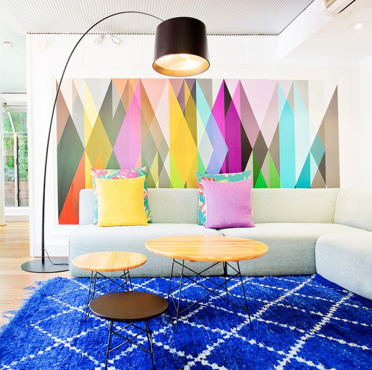 Artwork Ideas For Family Room Part - 48: Contemporary Family Room By Touch Interiors - 8. Framed Wallpaper. A  Bright, Circus