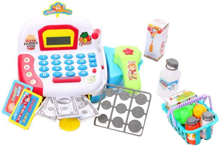 Kasa fiskalna dla dzieci do zabawy z akcesoriami CASH