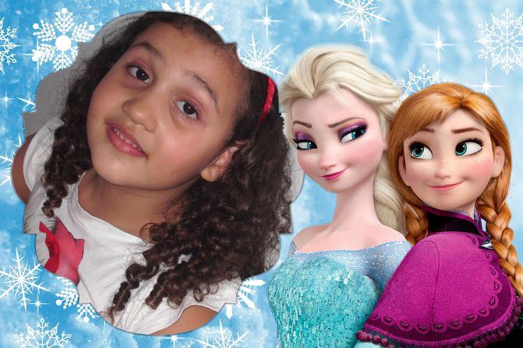 Foto Montagem Gratis de Frozen com Anna e Elsa