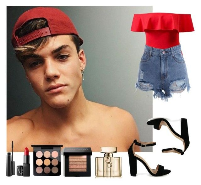 """""""Selfie with Grayson Dolan"""" by anna-lamanilao ❤ liked on Polyvore featuring Dolan, MAC Cosmetics, NARS Cosmetics, Bobbi Brown Cosmetics and Gucci"""