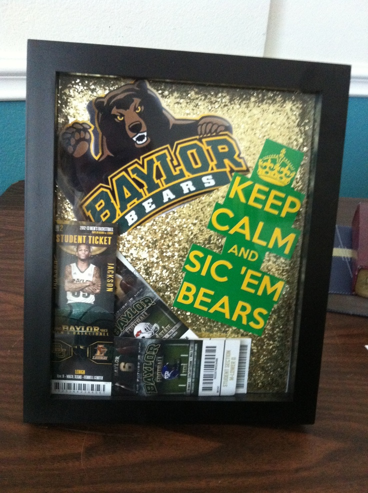 Made a shadow box for all my #Baylor sporting event tickets!! @baylorproud