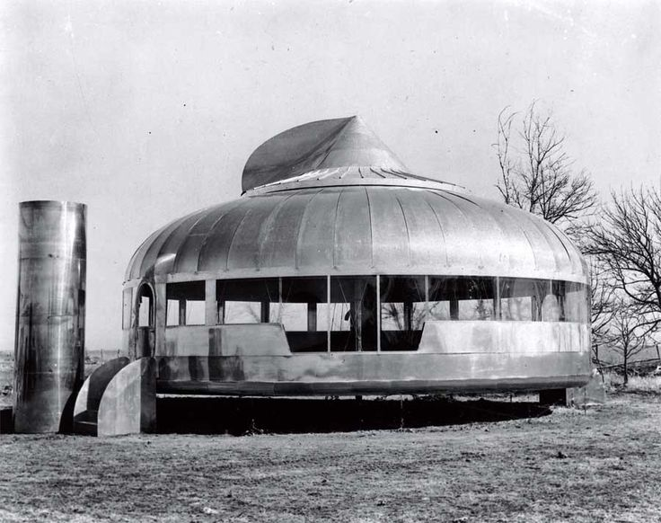 Clássicos da Arquitetura: Casa Dymaxion 4D,Casa Wichita House, baseada no prototipo Dymaxion protoype, via clublugosi.es