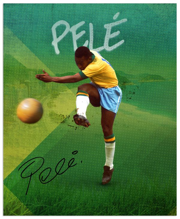 Pele (Brazil) - #WorldCup #SoccerLegend #FutbolLegend #FootballLegend #UEFA #FIFA