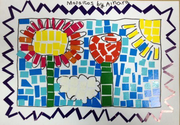 No os perdáis los mejores mosaicos griegos creados por los niños, preciosos!! the best mosaics created by kids