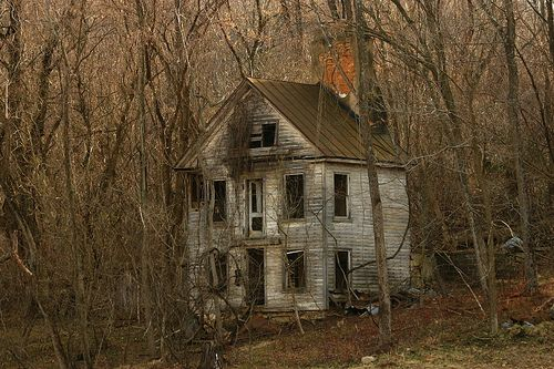 Abandoned 2 story home now in the woods