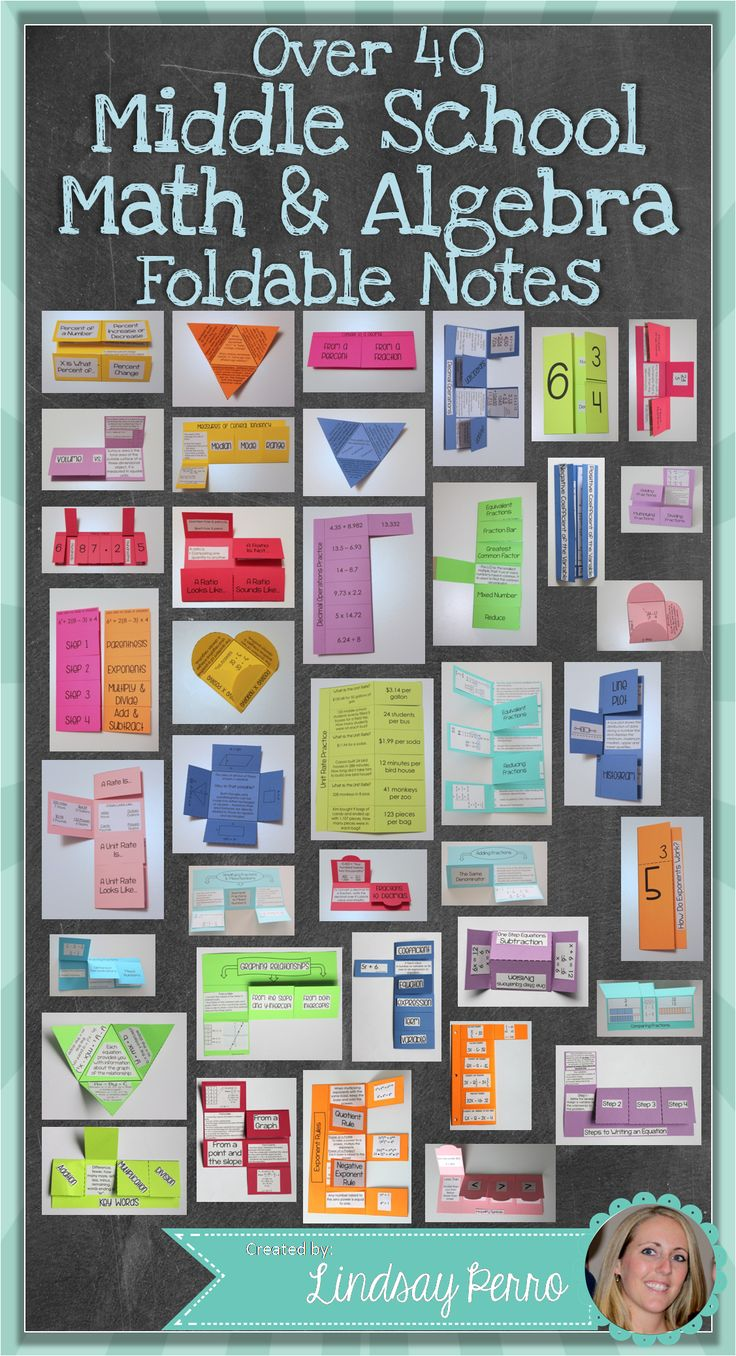 This HUGE collection of 40 foldables will breathe some life back into notes on many Middle School Math concepts. Each foldable includes directions and pictures, as well as a variety of options for you when it comes to how complete you want the foldables to be.