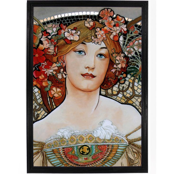 A beautiful piece by Alphonse Mucha. All of our prints are beautifully rendered on 13 by 19 professional heavyweight matte photo paper. All images are printed exactly as shown to order. Old photos and