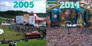 Evolución de Tomorrowland de 2005 a 2014